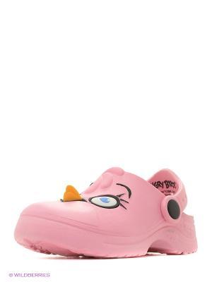 Шлепанцы ANGRY BIRDS. Цвет: розовый
