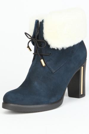 Ботинки утепленные, байка OSSO. Цвет: синий