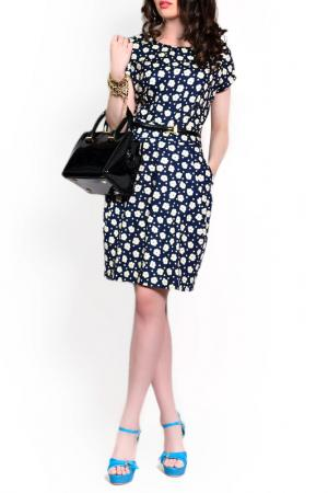 Платье FRANCESCA LUCINI. Цвет: темно-синий цветок