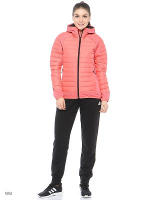 Пуховик HYBRID DOWN HOODED JACKET Adidas. Цвет: розовый