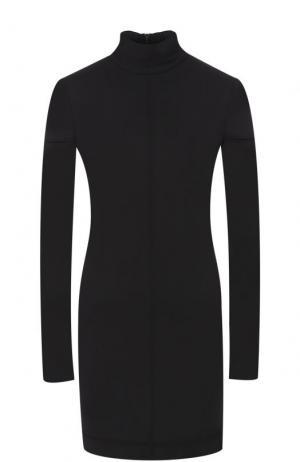 Мини-платье с длинным рукавом и воротником-стойкой Helmut Lang. Цвет: черный