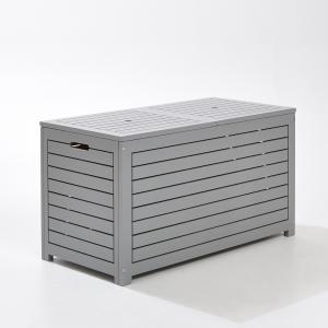 Ящик для вещей прямоугольный из акации Мини-цена. Цвет: серый