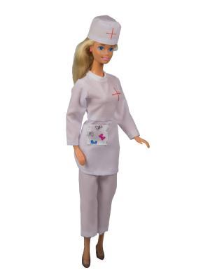 Костюм медсестры для куклы 29 см Модница.. Цвет: белый