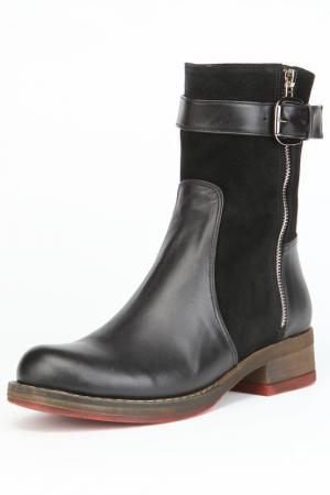Ботинки утепленные, байка OSSO. Цвет: черный