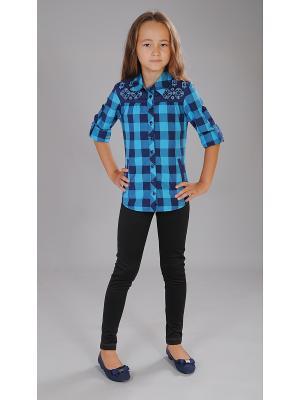 Рубашка Милашка Сьюзи. Цвет: бирюзовый