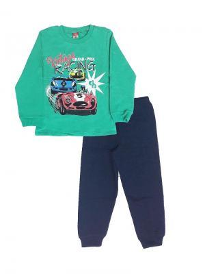 Пижама Cherubino. Цвет: зеленый