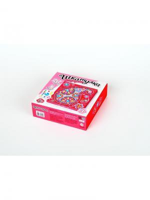 Набор для творчества. Шкатулка Узор 217 стразов (150х150) Десятое королевство. Цвет: белый, красный, розовый