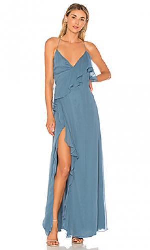Платье с запахом metamorphosis Haute Hippie. Цвет: синий