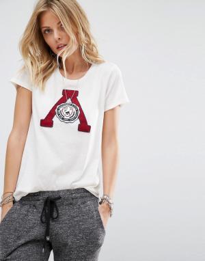 Abercrombie & Fitch Футболка с логотипом. Цвет: белый
