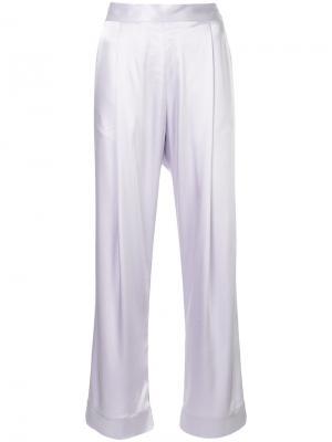 Расклешенные брюки Babe Georgia Alice. Цвет: розовый и фиолетовый