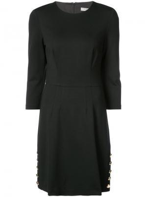 Платье с пуговицами по бокам Trina Turk. Цвет: чёрный