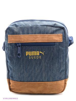 Сумка Suede Portable Puma. Цвет: индиго