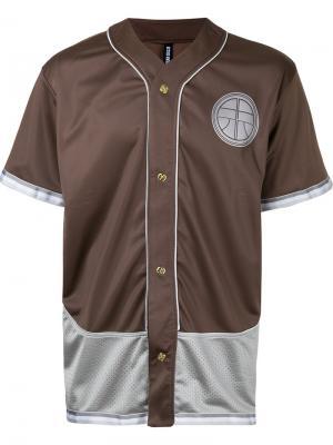 Рубашка с заплаткой в форме меча Astrid Andersen. Цвет: коричневый