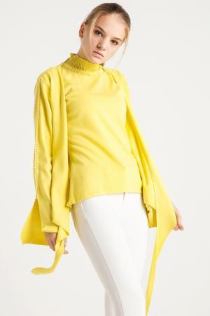 Комплект: юбка, свитер BGN. Цвет: yellow, желтый
