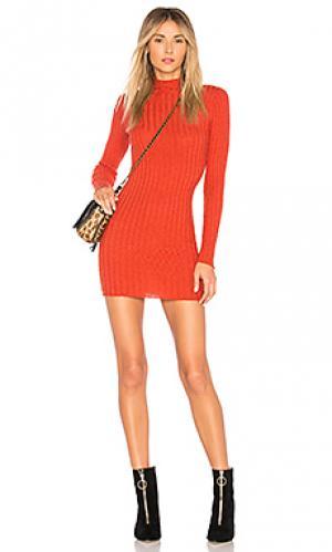 Платье с воротником-водолазка be fierce Lovers + Friends. Цвет: оранжевый