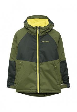 Куртка горнолыжная Columbia. Цвет: зеленый