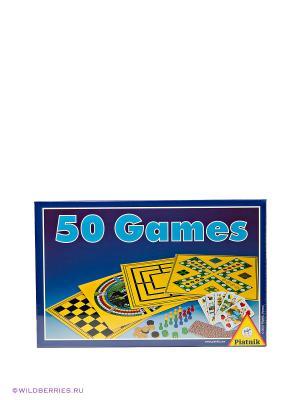 Набор игр 50 в 1 Piatnik. Цвет: желтый