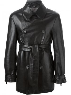 Куртка с поясом Liska. Цвет: чёрный