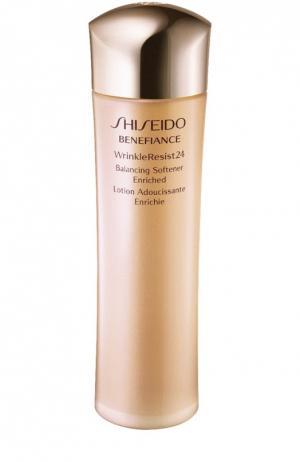 Балансирующий обогащенный софтнер с комплексом против морщин 24 часа Benefiance Shiseido. Цвет: бесцветный