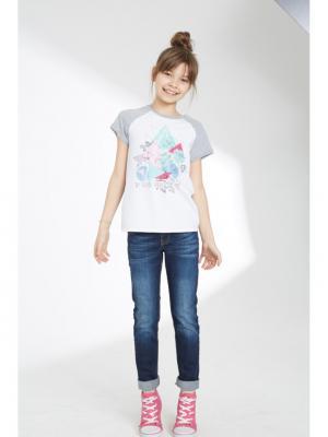 Брюки джинсовые SILVER SPOON. Цвет: темно-синий