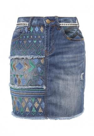 Юбка джинсовая Desigual. Цвет: синий