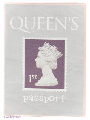 Обложка для паспорта Королева Kawaii Factory. Цвет: светло-серый