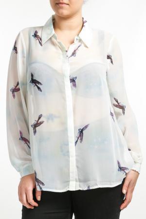 Рубашка Zizzi. Цвет: мультицвет