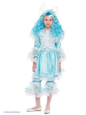 Карнавальный костюм Кукла Мальвина Батик. Цвет: голубой