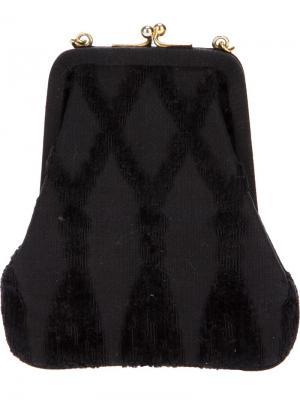 Клатч с фактурными ромбами Roberta  Di Camerino Vintage. Цвет: чёрный