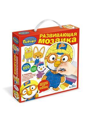Фигурная мозаика-набор для малышей Пингвиненок Пороро. Origami. Цвет: желтый, оранжевый, синий