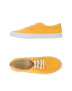 Низкие кеды и кроссовки POINTER. Цвет: желтый