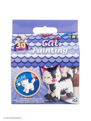 Разрисуй котенка 3D AMAV. Цвет: синий