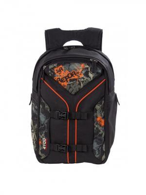 Рюкзак 4YOU ГРАФИТИ. Цвет: черный, оранжевый