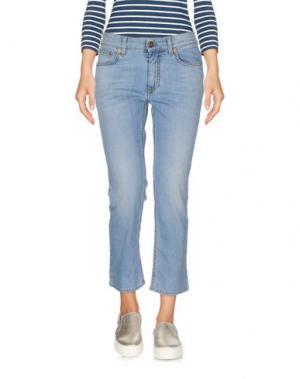 Джинсовые брюки-капри REIGN. Цвет: синий