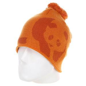 Шапка с помпоном мужская  Teeny Weeny Orange Enjoi. Цвет: оранжевый