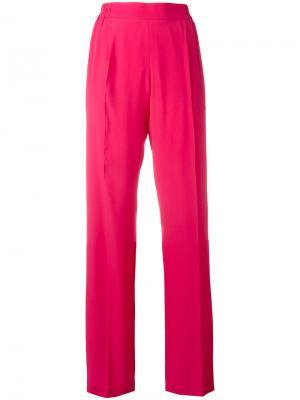 Брюки прямого кроя с полосками по бокам Nº21. Цвет: розовый и фиолетовый
