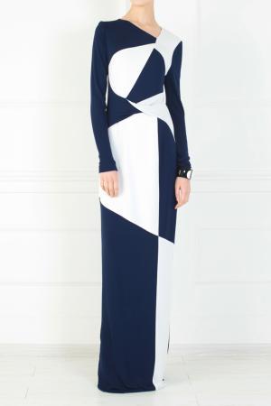 Платье из вискозы Peter Pilotto. Цвет: синий, голубой