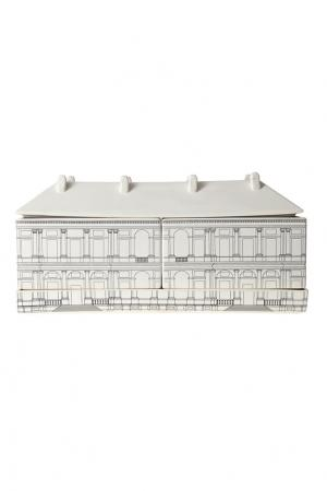 Комплект фарфоровой посуды Palazzo Ducale Seletti. Цвет: черно-белый