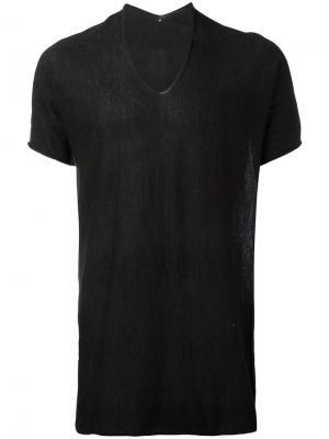 Длинная футболка Label Under Construction. Цвет: серый