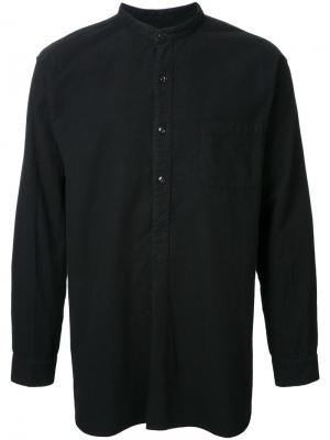 Фланелевая рубашка с воротником-стойкой Gold. Цвет: чёрный