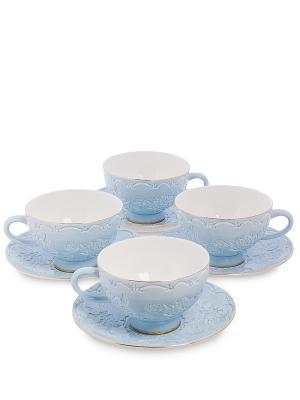 Чайный н-р на 4 перс. Лаце Росса (Pavone) Pavone. Цвет: голубой