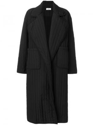 Объемное пальто-пуховик Nomia. Цвет: чёрный