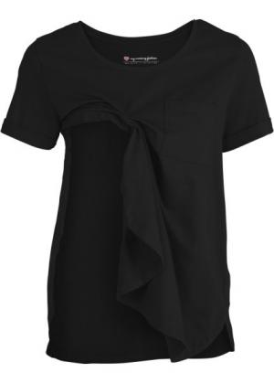 Мода для беременных: футболка с функцией кормления (черный) bonprix. Цвет: черный
