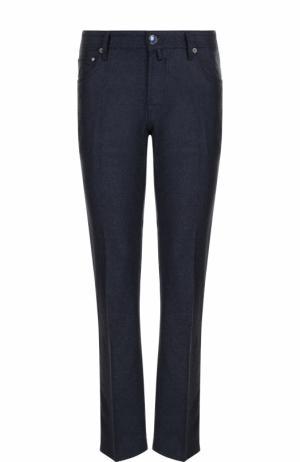 Шерстяные брюки прямого кроя Jacob Cohen. Цвет: темно-синий