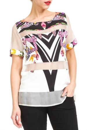 Блуза Didier Parakian. Цвет: белый