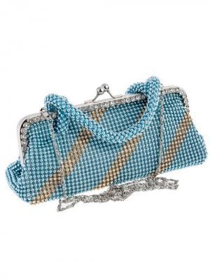 Сумка-клатч женская на защелке City Flash. Цвет: голубой,серебристый,белый