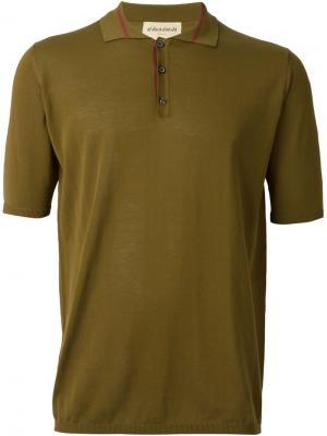 Трикотажная футболка-поло Al Duca D'Aosta 1902. Цвет: зелёный
