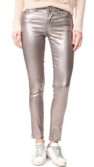 Металлизированные джинсы Intropia. Цвет: голубой