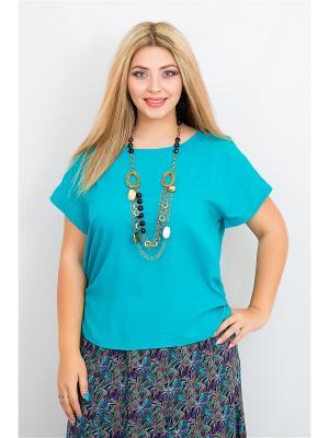 Блузка BALSAKO. Цвет: бирюзовый