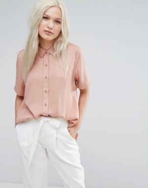ADPT Рубашка с короткими рукавами Soda. Цвет: белый